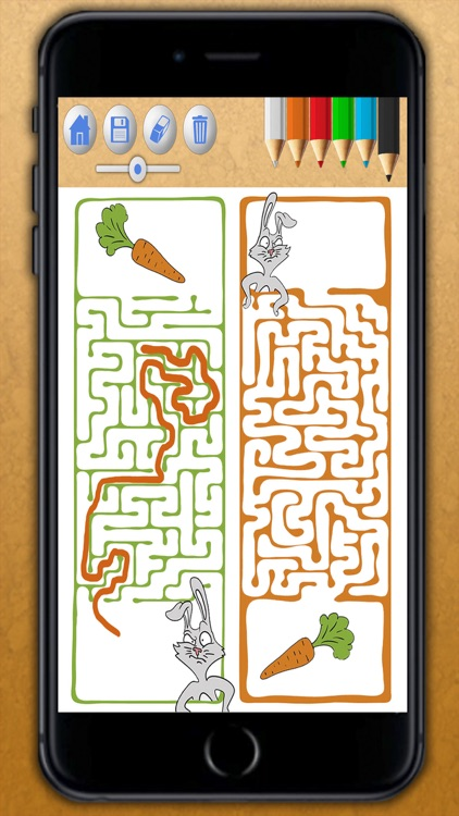 Animal maze game for kids - Solve the maze do the puzzle and paint the funny animals in the game Premium screenshot-3