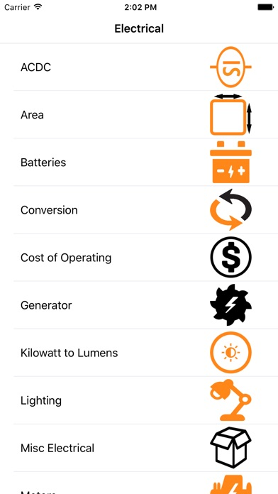 Electrical Formulator screenshot one