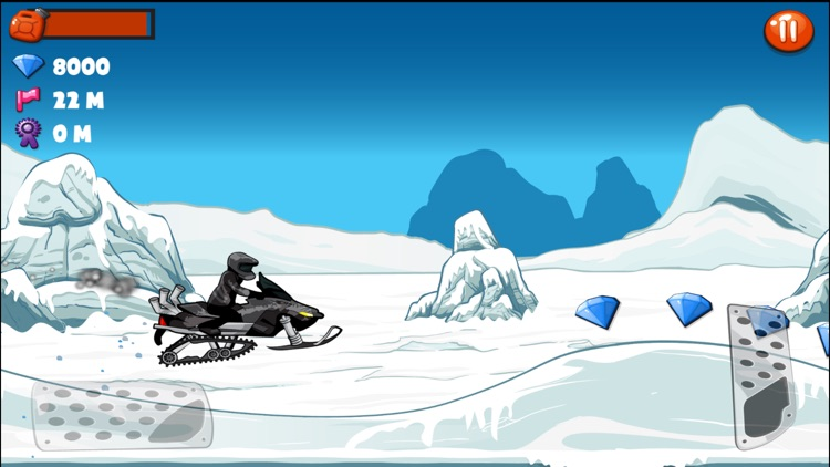 Snowmobile Stunt Racing Game screenshot-4