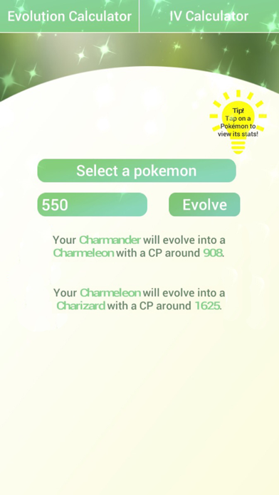 pokemon go evolution calculator