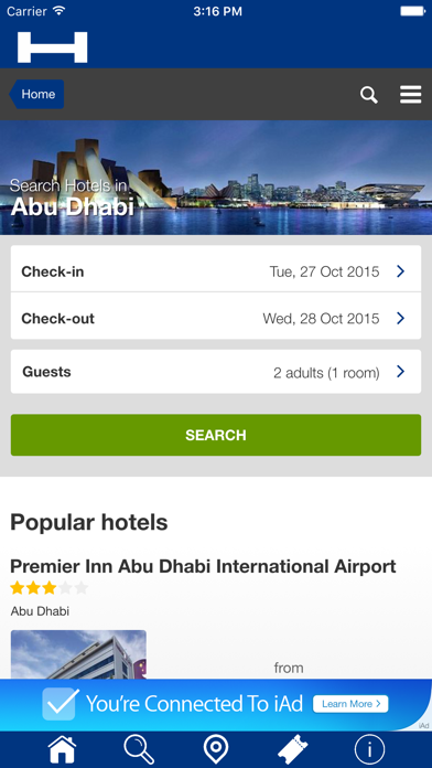 Abu Dhabi Hoteles + Compara y Reserva de hotel para esta noche con el mapa y viajes turísticosCaptura de pantalla de1