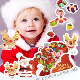 Christmas Photo Stickers and Frames