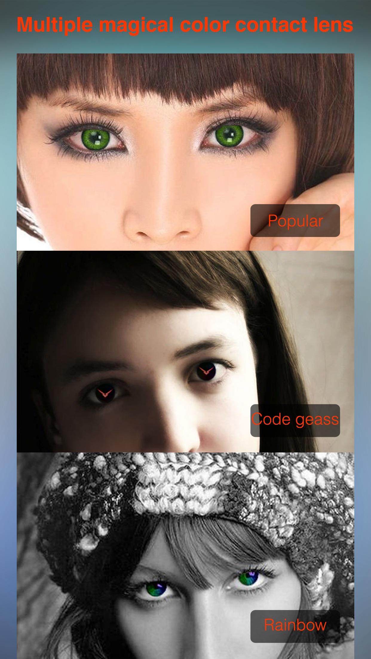 Hot Eye Color Contact Lens - Red Eye Remover Screenshot