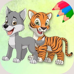 Animals coloring book – coloring pages