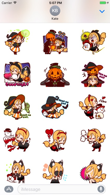 Witch's Halloween Stickers