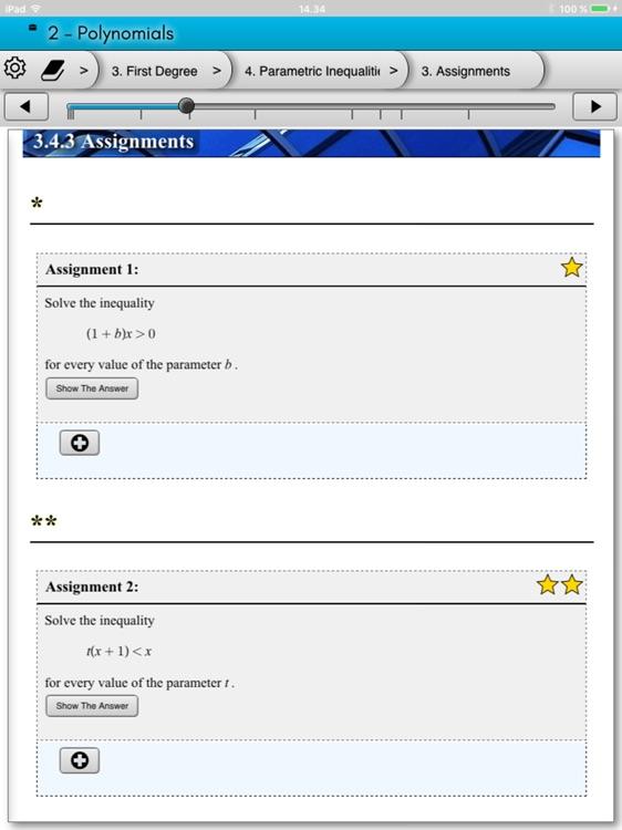 eMath2: Polynomials screenshot-4