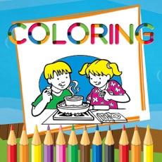 Activities of Preschool Activities Coloring Book Kitchen Cooking
