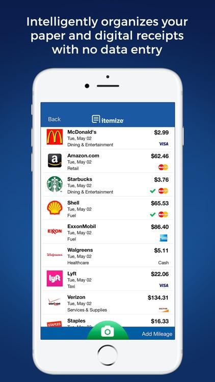 Itemize - Expense Management screenshot-0