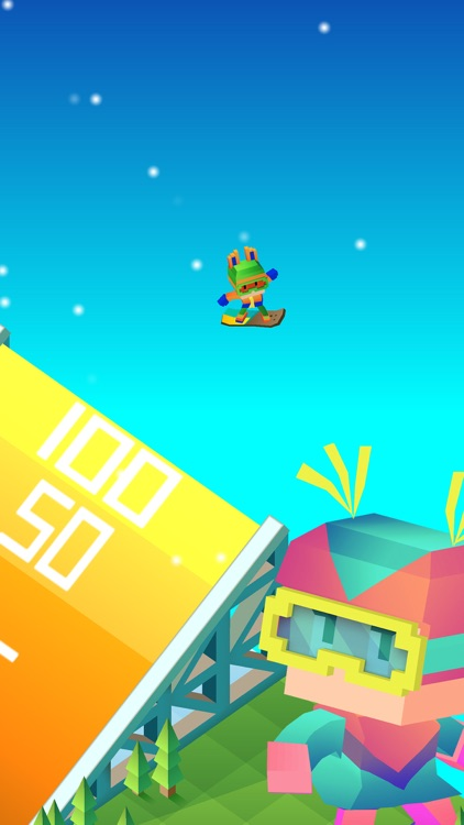 Blocky Snowboarding screenshot-2