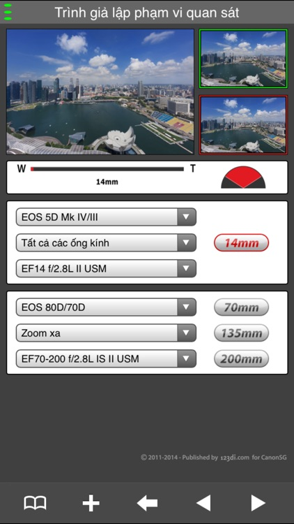 EF Lens Simulator Vietnam