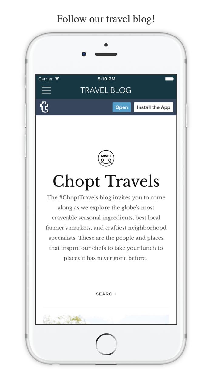CHOPT Screenshot