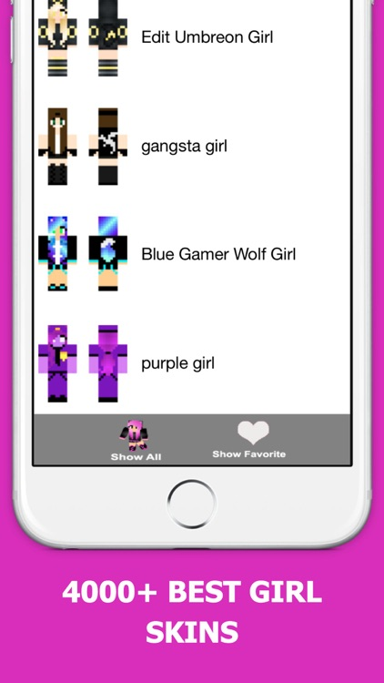 Best Girl Skins for Minecraft PE Free