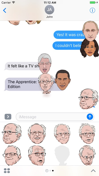Celebmoji Politics Stickers–Trump, Clinton, Obama