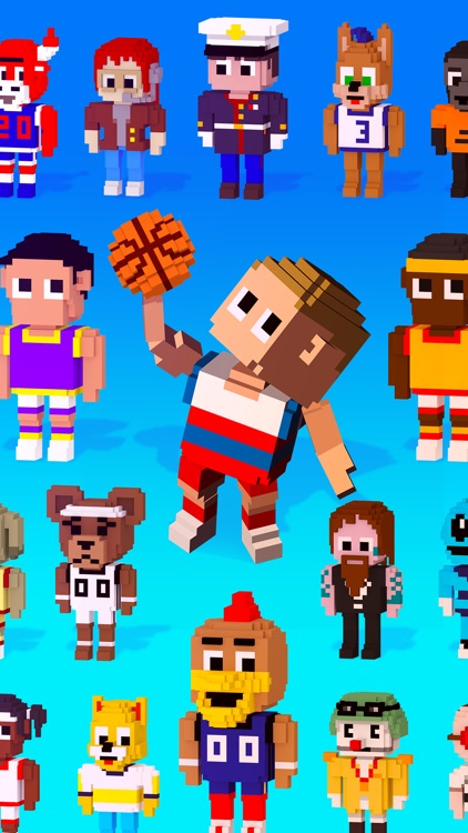 Blocky Basketball - Endless Arcade Dunker screenshot-4