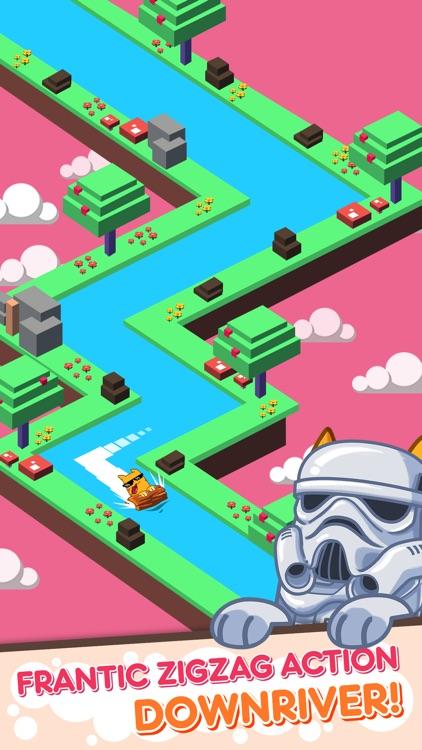 Splashy Cats: Endless Zigzag Arcade Water Game screenshot-3