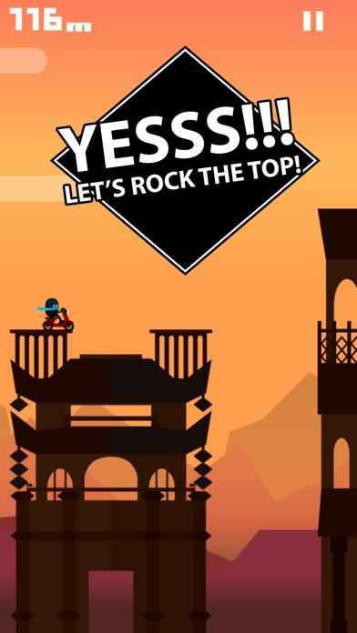 Rooftop Rider - Awesome Biking screenshot one