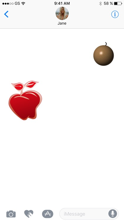 Apple Two Sticker Pack