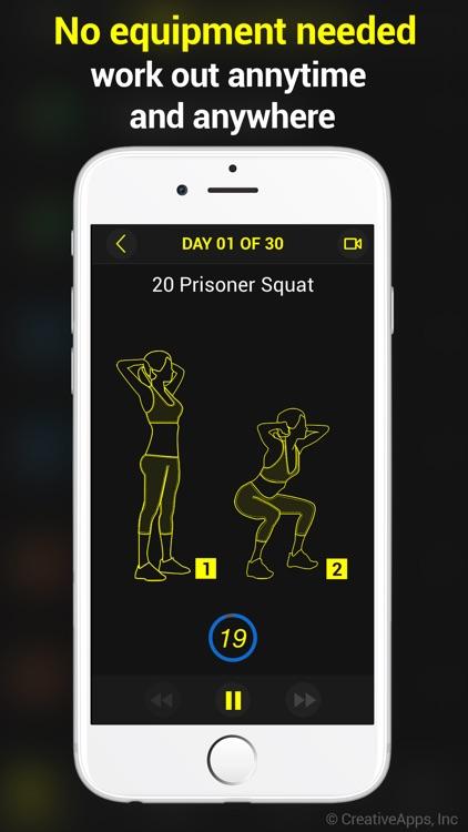 30 Day Squats Trainer Pro screenshot-3