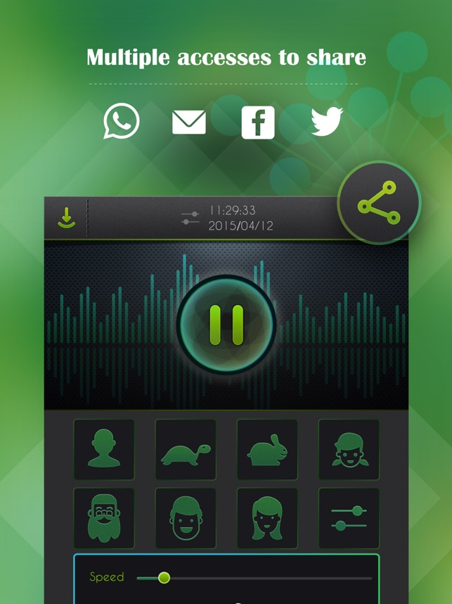 ‎Voice Changer, Sound Recorder Screenshot