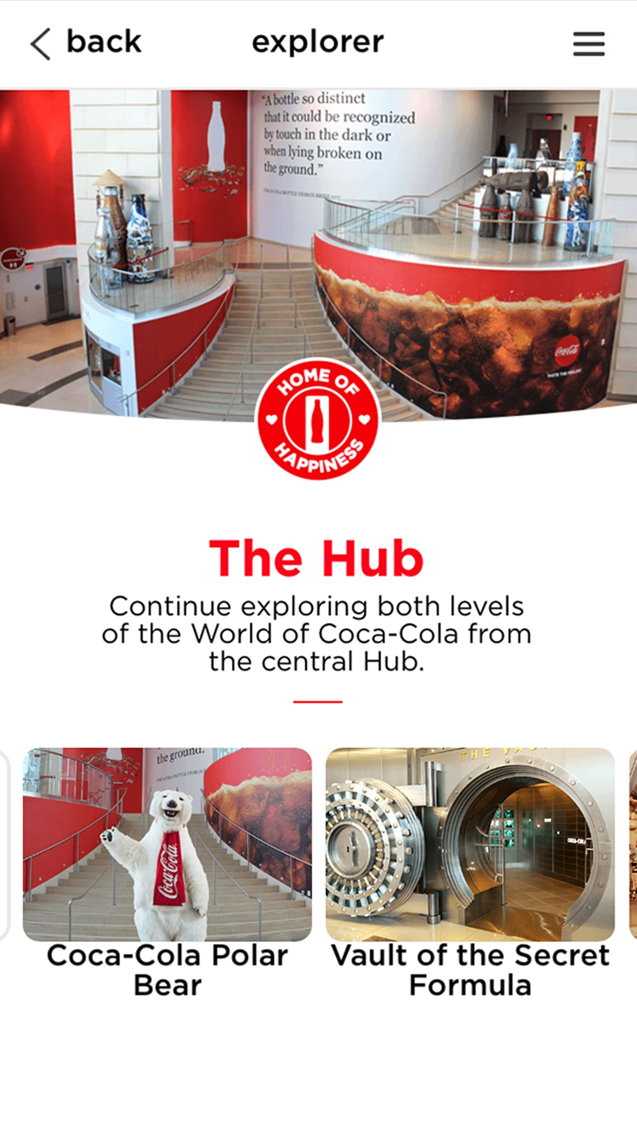 World of Coca-Cola Explorer Screenshot