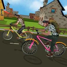 Activities of Boy School Bicycle City Race : Ride bike to School