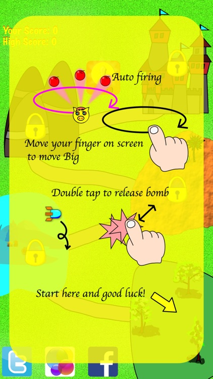 Big Pig To The Rescue Lite Edition- cute exciting shooting game with vertical scrolling bullet hell! screenshot-3