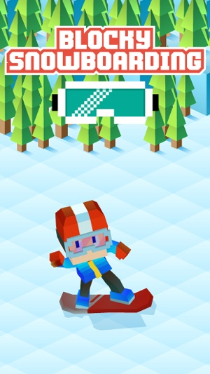 Blocky Snowboarding Screenshot
