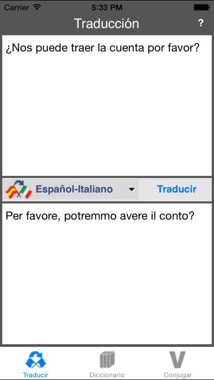 Traductor Español-Italiano (Offline) screenshot-0