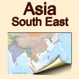 South East Asia. Political map.