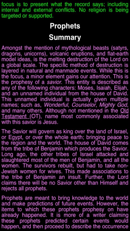 Summary King James Bible (part 6)