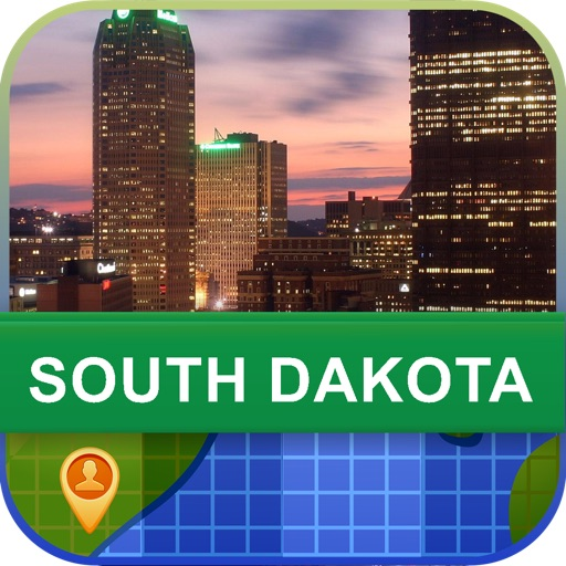 Offline South Dakota, USA Map - World Offline Maps