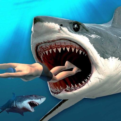 Убийца Акула охоты: голодным рыба Эво Приключения