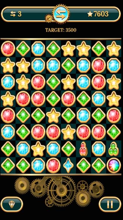The Diamond Stars And Jewel Match Puzzle Game screenshot-3