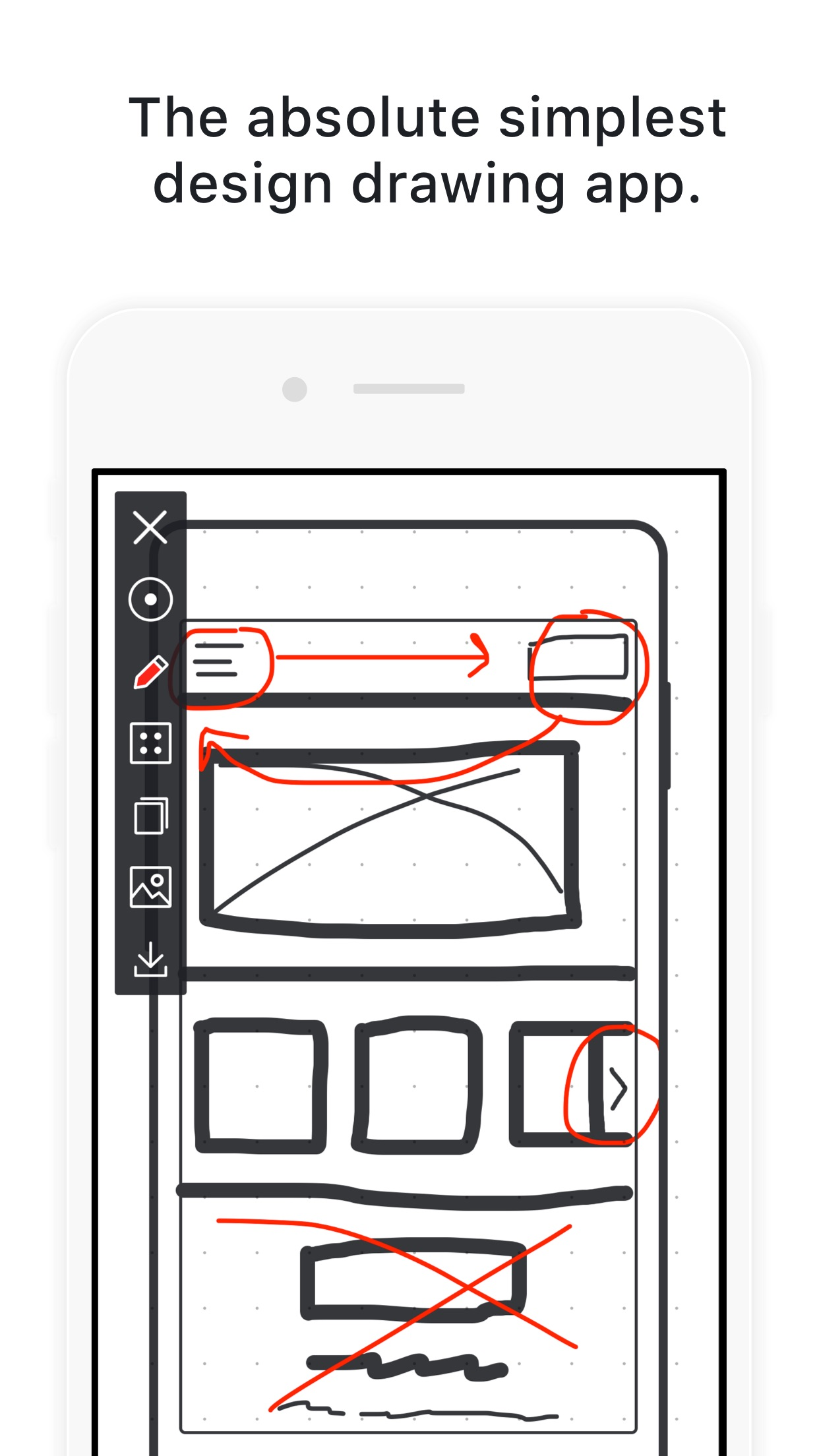 Screenshot do app Drwer - Simple Design Drawing