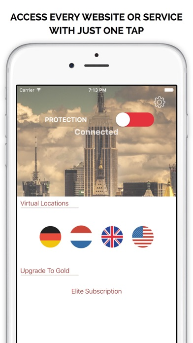 Best Free VPN | Unlimited Proxy to Access websites Screenshot on iOS