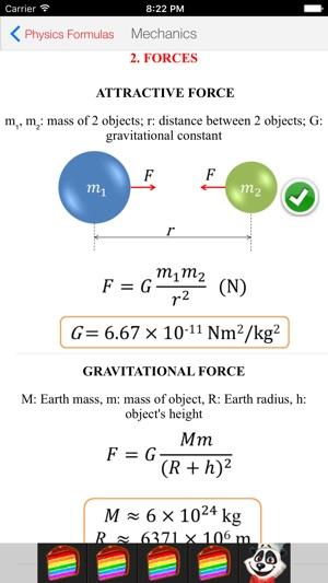 Physics Formulas Free on the App Store