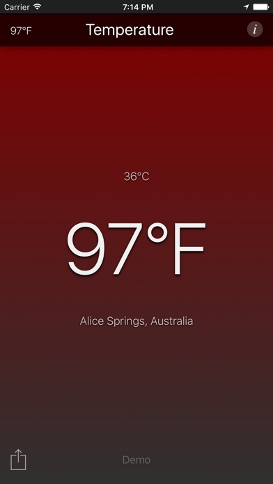 Temperature App review screenshots