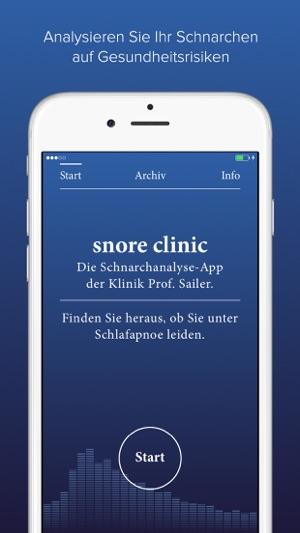 snore clinic – Die Schnarchanalyse-App der Klinik Prof. Sailer Screenshot