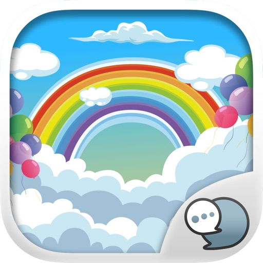 Rainbow Emoji Stickers Keyboard Themes ChatStick