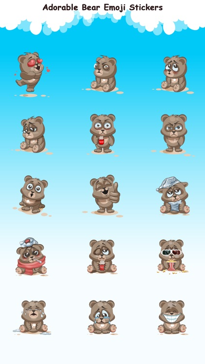 Adorable Bear Emoji Stickers