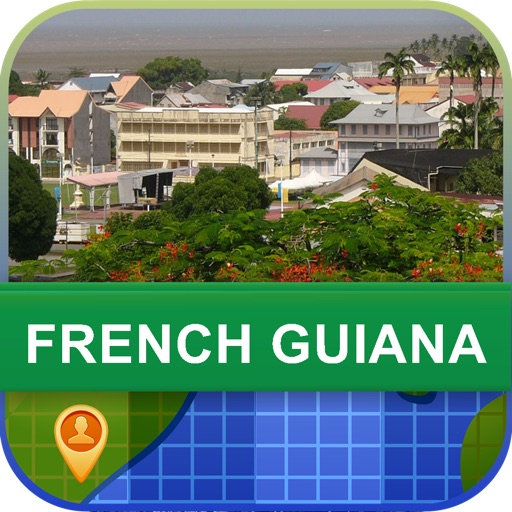 Offline French Guiana Map - World Offline Maps
