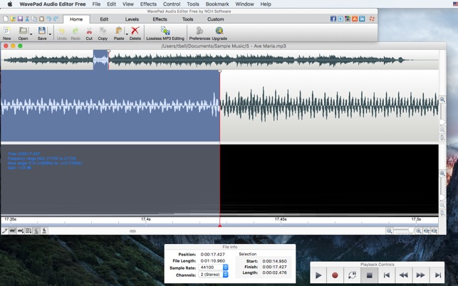 WavePad Audio Editor Free on the Mac App Store