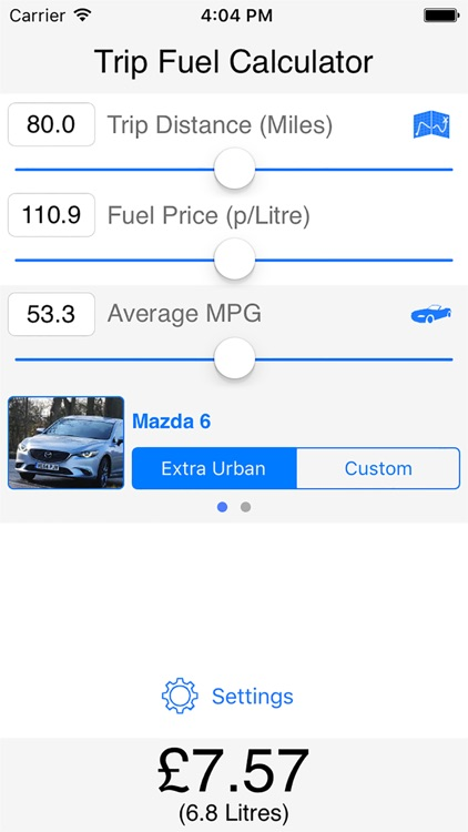 trip fuel calculator by foxdev co uk