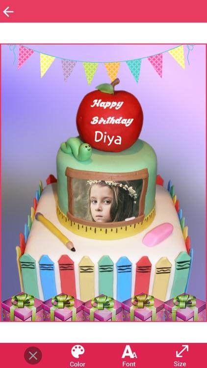 Photo Name On Kids Birthday Cake By Bhavik Savaliya