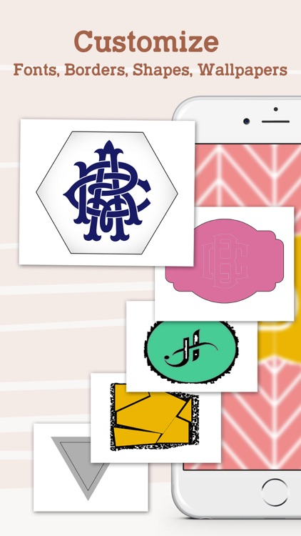 Monogram Lock Screen Wallpaper Maker!!! Make Your Monograms screenshot-3