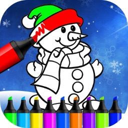 Christmas Coloring Book - Finger Paint