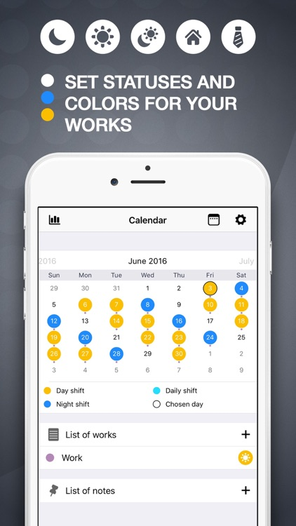 My Work Schedule - Shift Planning Calendar