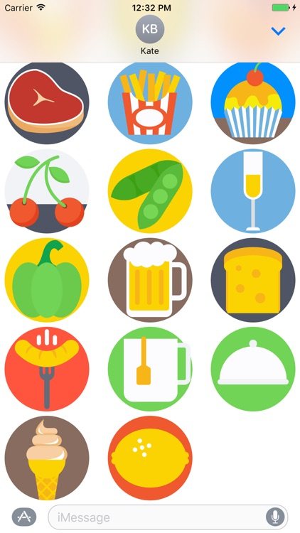 Food Stickers and Emojis for iMessage screenshot-4