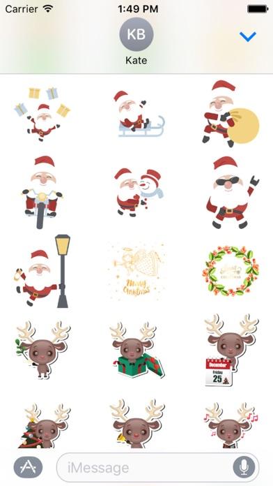 Christmas Sticker Pack - 2017 screenshot one