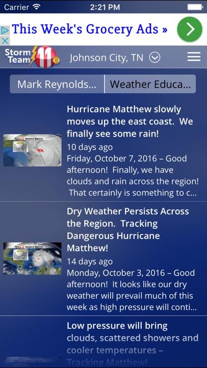 WJHL Radar – Tri-Cities, Tennessee weather screenshot-3